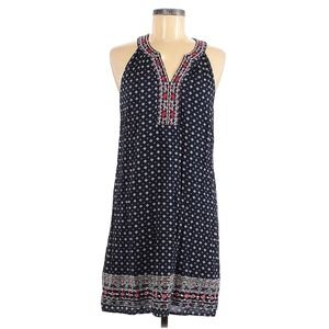 Market & Spruce Blue Embroidered Sleeveless Dress